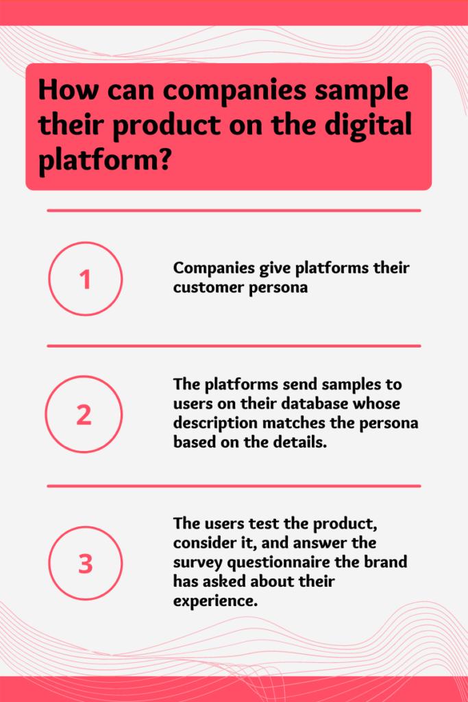 product sampling on digital platform