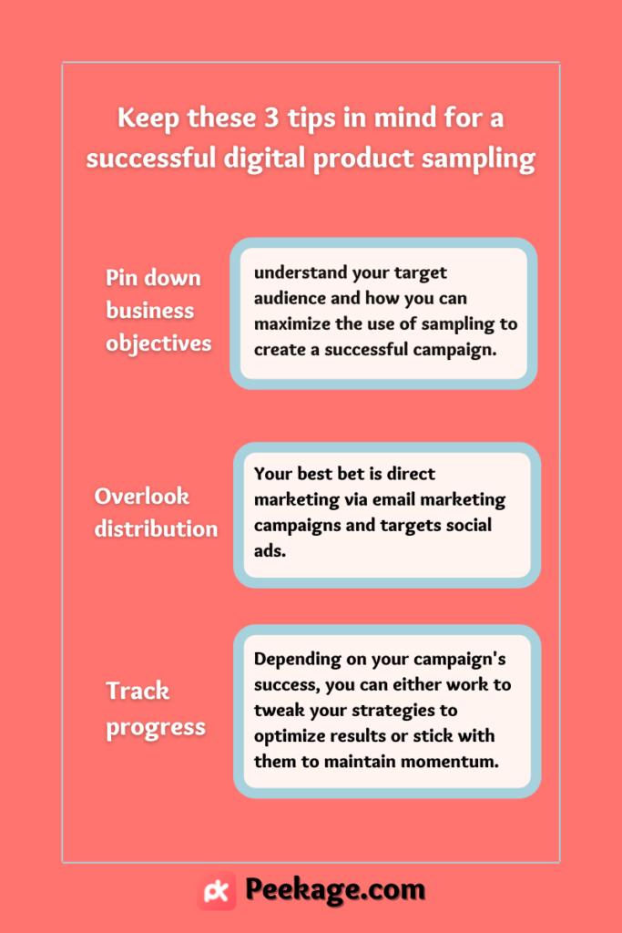digital product sampling campaign
