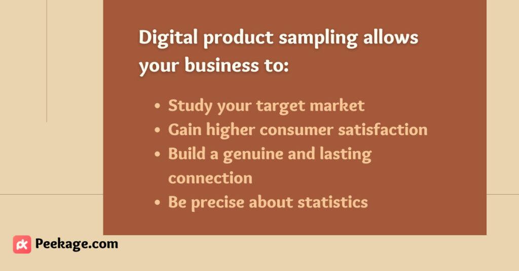 digital product sampling benefits