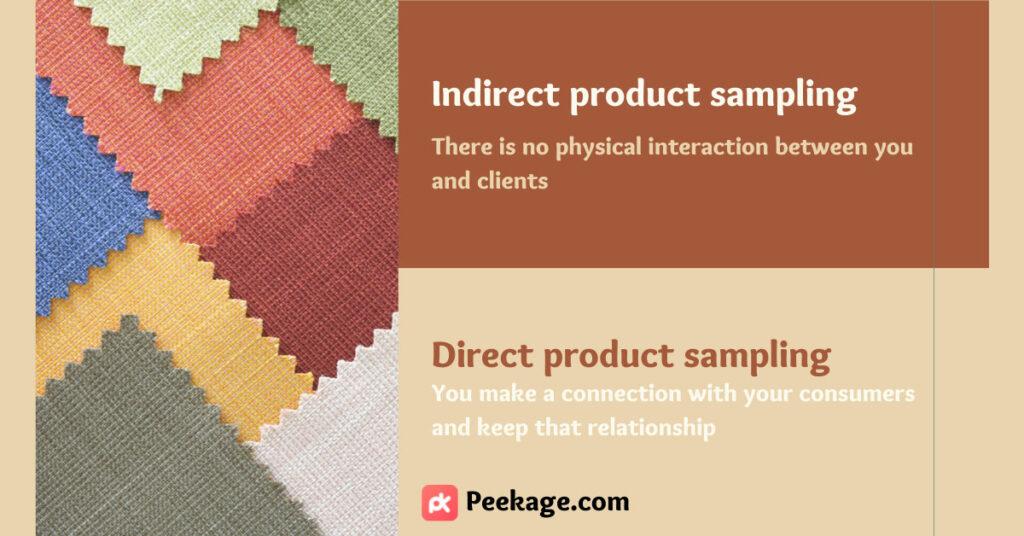 Product sampling type