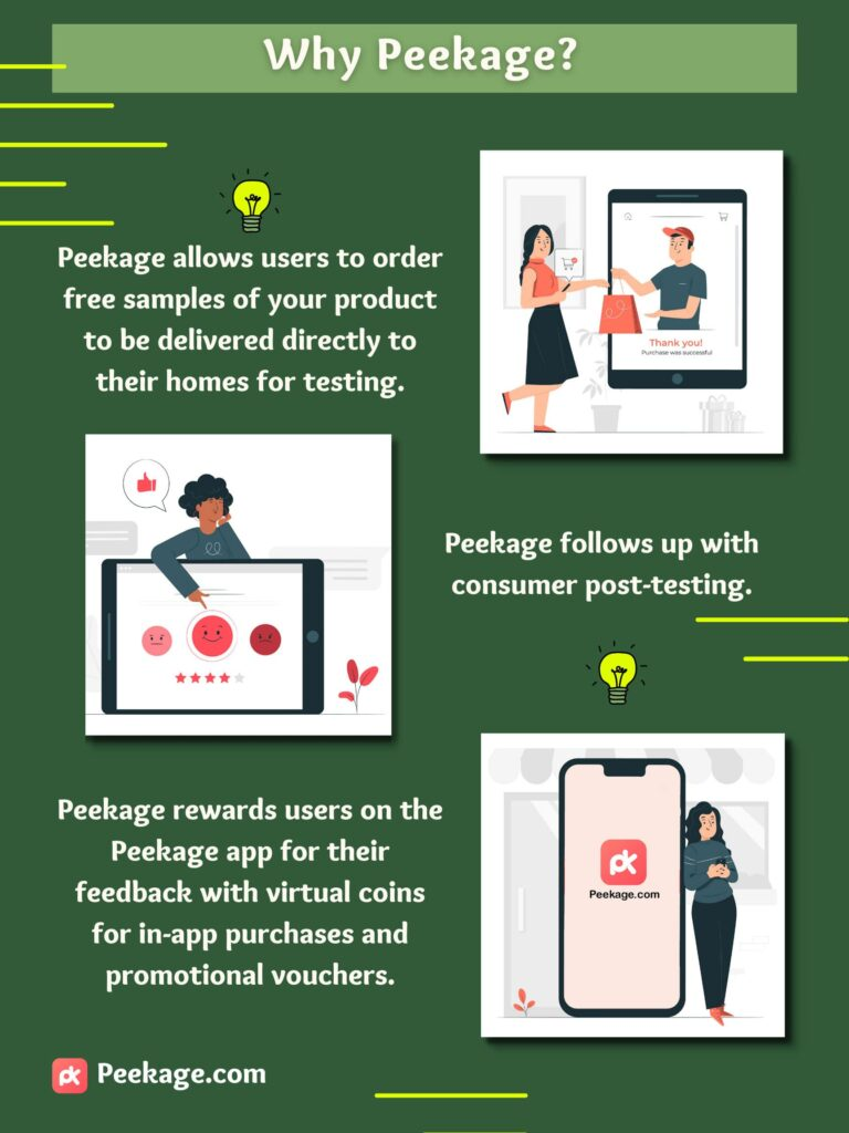 why peekage for product sampling